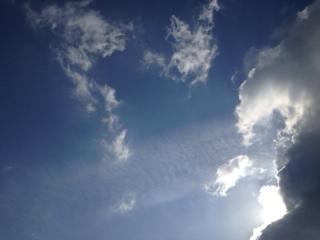 大分の空、流山の空